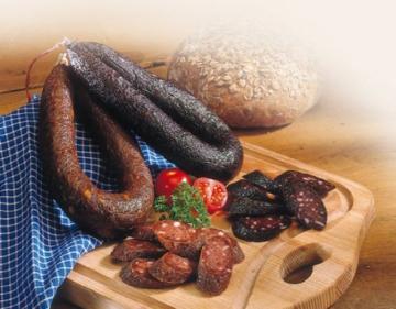 Hausmacher Rotwurst im Ring -